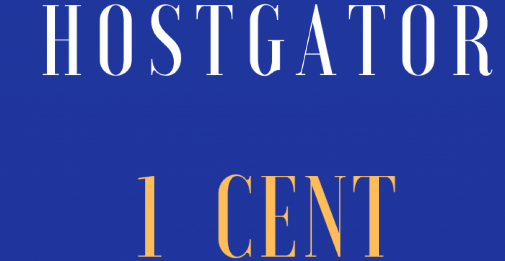 Hostgator 1 Cent coupon