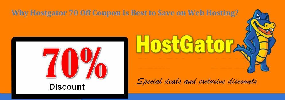 HostGator 70% Off Coupon