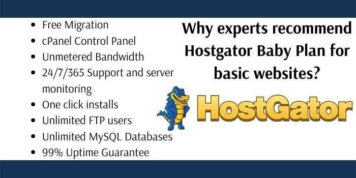 Hostgator Baby Plan Features