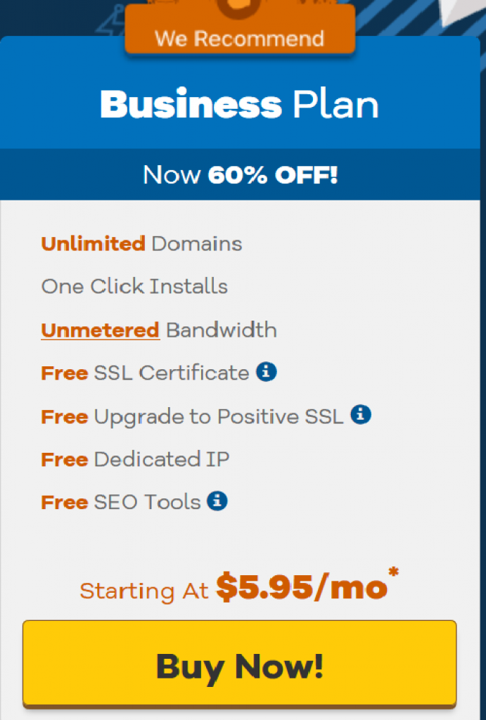 Hostgator Business Plan Coupon Code