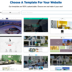 Built Your website choosing themes