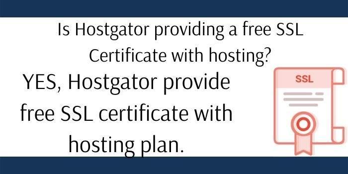 Hostgator SSL Certificate Free