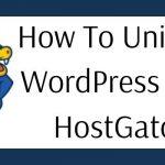 How To Uninstall WordPress From HostGator