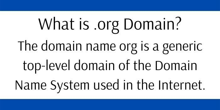 What is .org Domain