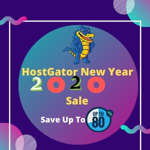 Hostgator new year 2020 sale