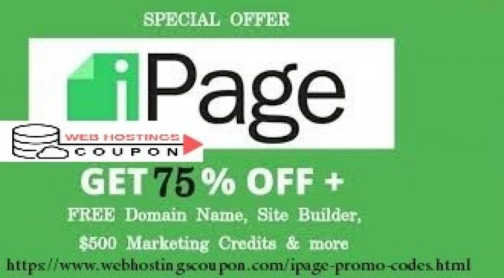 Ipage 75% Off Coupon