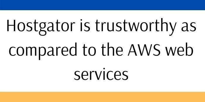 AWS VS Hostgator