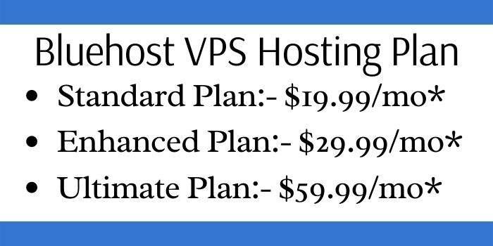 Bluehost VPS Hosting Plan