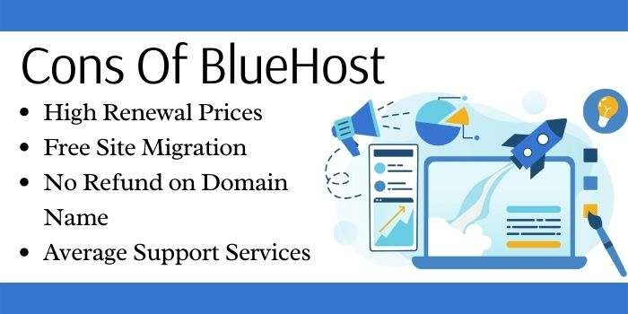 Cons Of Bluehost