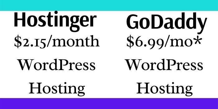 Hostinger Vs GoDaddy WordPress Hosting