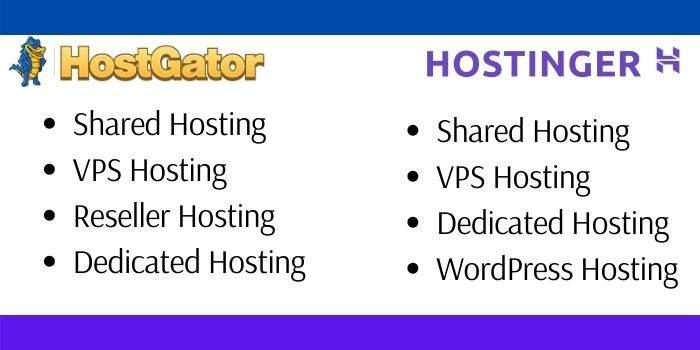 Hostinger Vs Hostgator