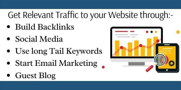 Methods to gain traffic on website