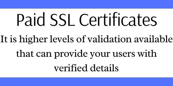 Paid SSL Certificate
