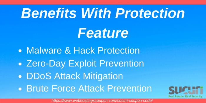 Benefits with Sucuri Protection Feature