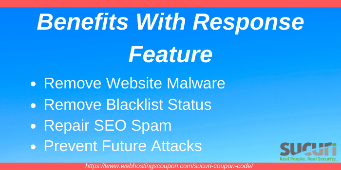 Benefits with Sucuri Response Feature