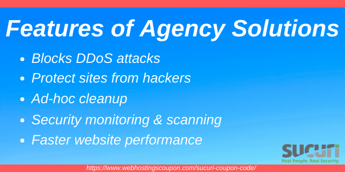 Features of Sucuri Agency Solution