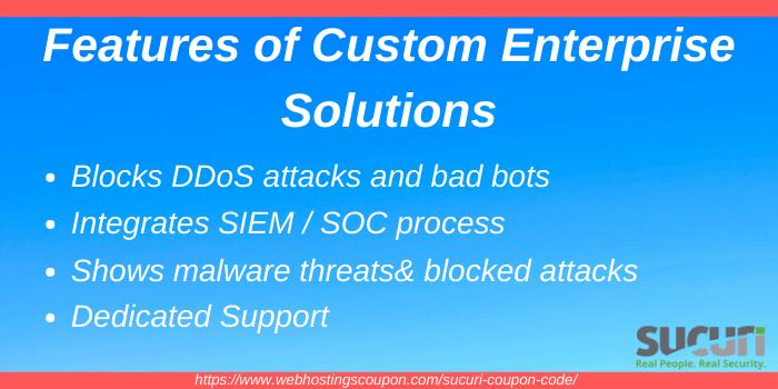 Features of Sucuri Custom Enterprise Solution