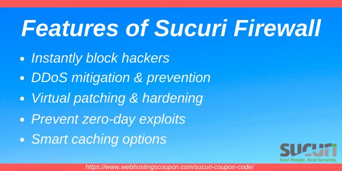 Sucuri Firewall Freatures