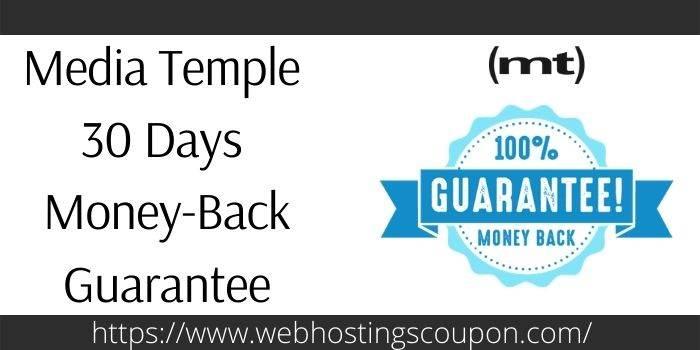 Media Temple Money Back Guarantee