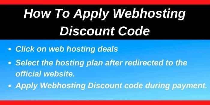 Apply Webhosting Discount code
