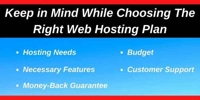 Know how to choose the right web hosting plan