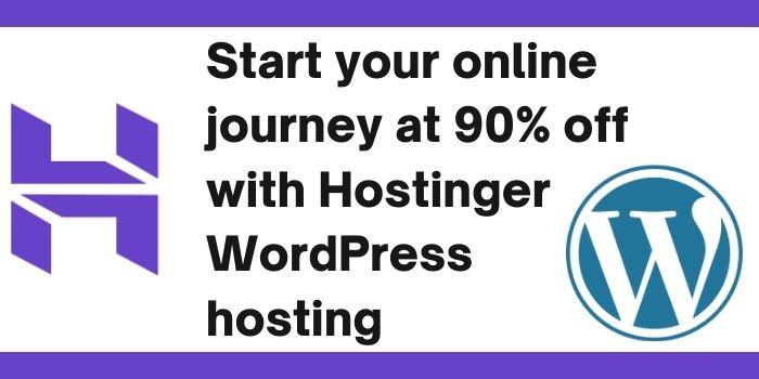 90 Off Hostinger WordPress coupon code